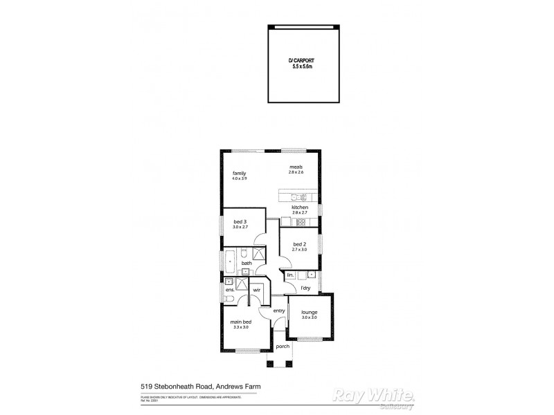 519 Stebonheath Road, Andrews Farm SA 5114 Floorplan