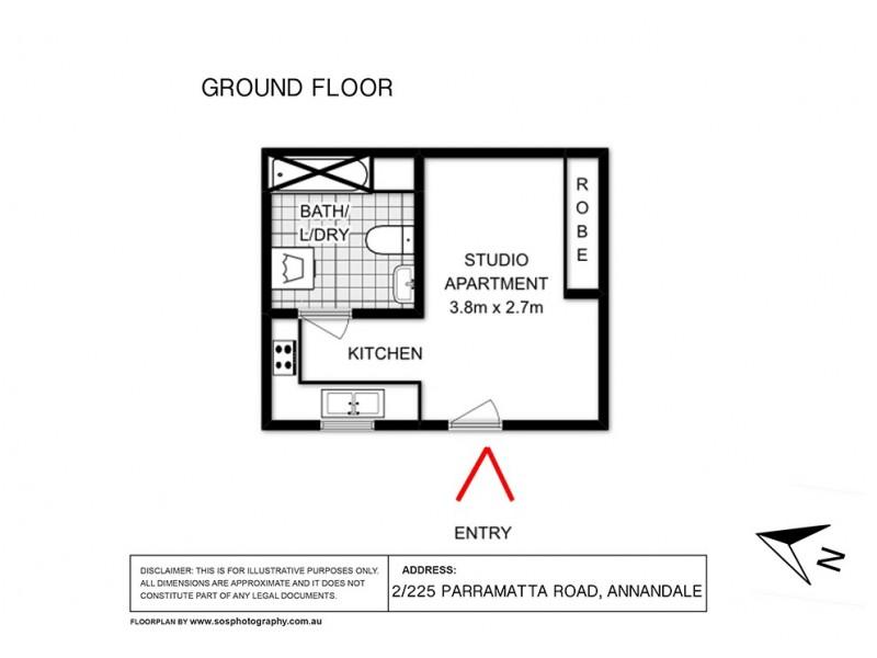 2/225 Parramatta Road, Annandale NSW 2038 Floorplan