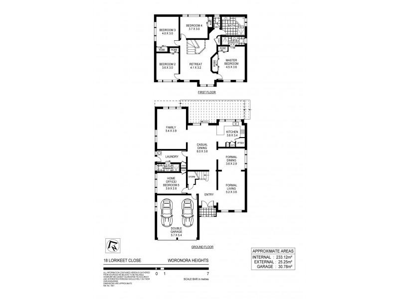 18 Lorikeet Close, Woronora Heights NSW 2233 Floorplan
