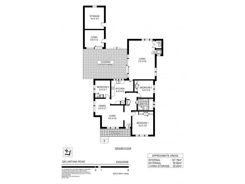 129 Lantana Road, Engadine NSW 2233 Floorplan
