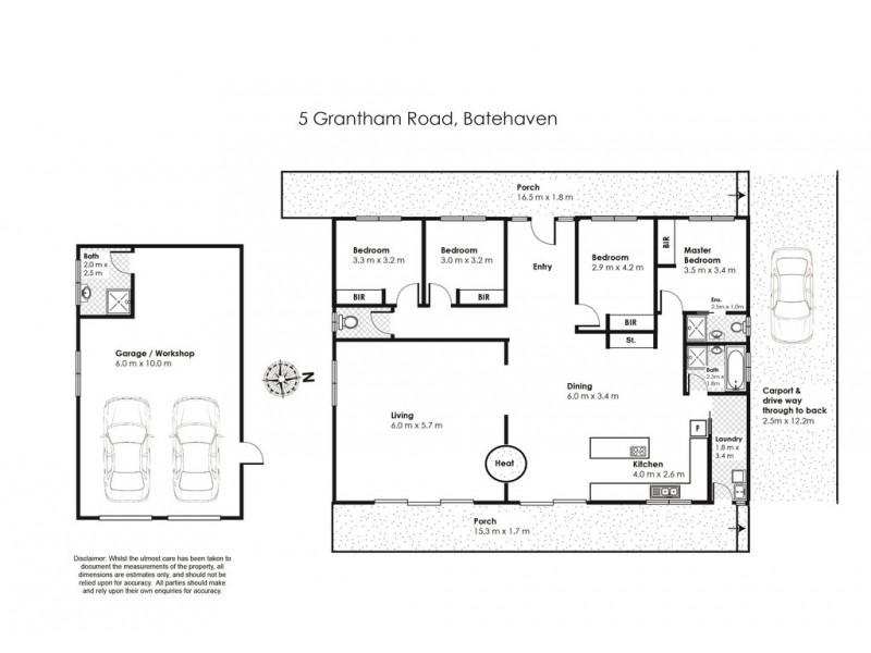 5 Grantham Road, Batehaven NSW 2536 Floorplan