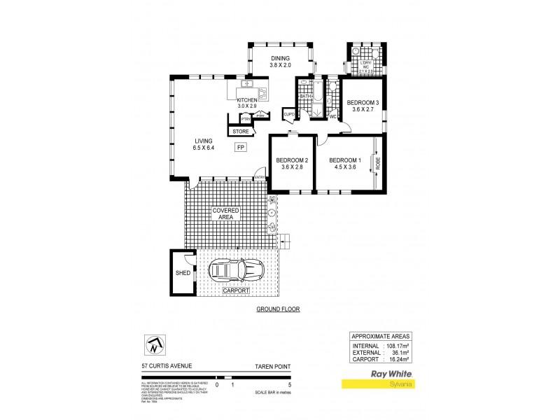 57 Curtis Avenue, Taren Point NSW 2229 Floorplan