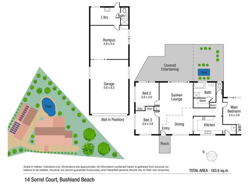 14 Sorrel Court, Bushland Beach QLD 4818 Floorplan