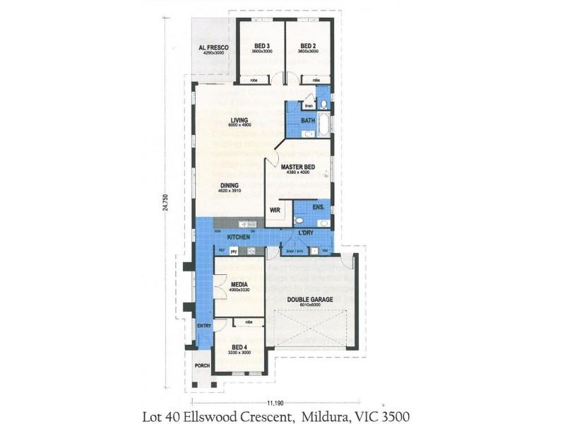 30 Ellswood Crescent, Mildura VIC 3500 Floorplan