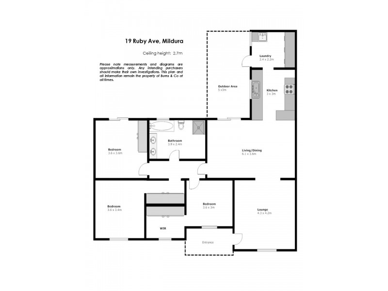 19 Ruby Avenue, Mildura VIC 3500 Floorplan