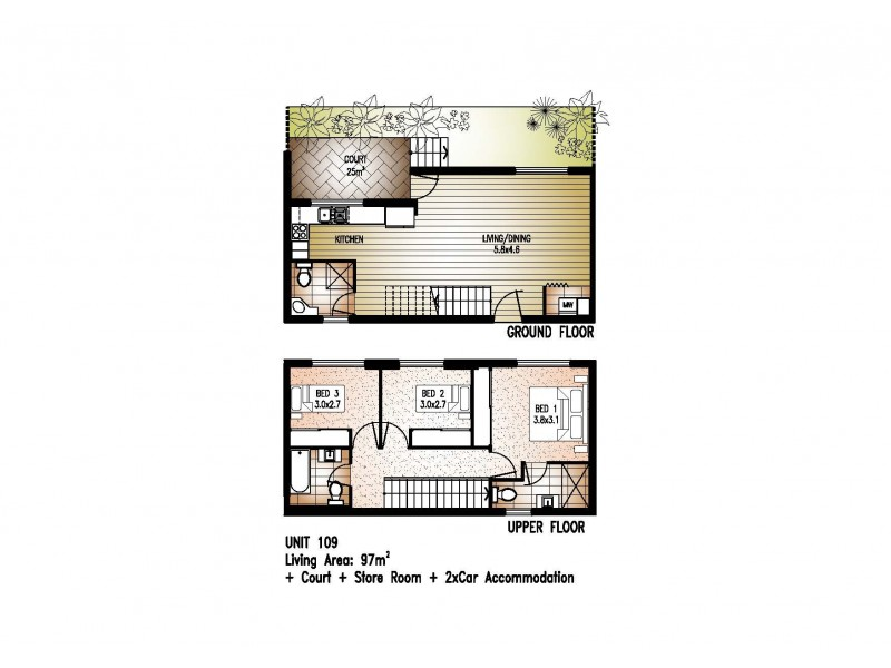 109/81 Sutton Street, Redcliffe QLD 4020 Floorplan