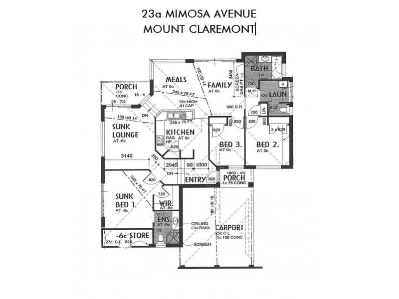 23a Mimosa Avenue, Mount Claremont WA 6010 Floorplan