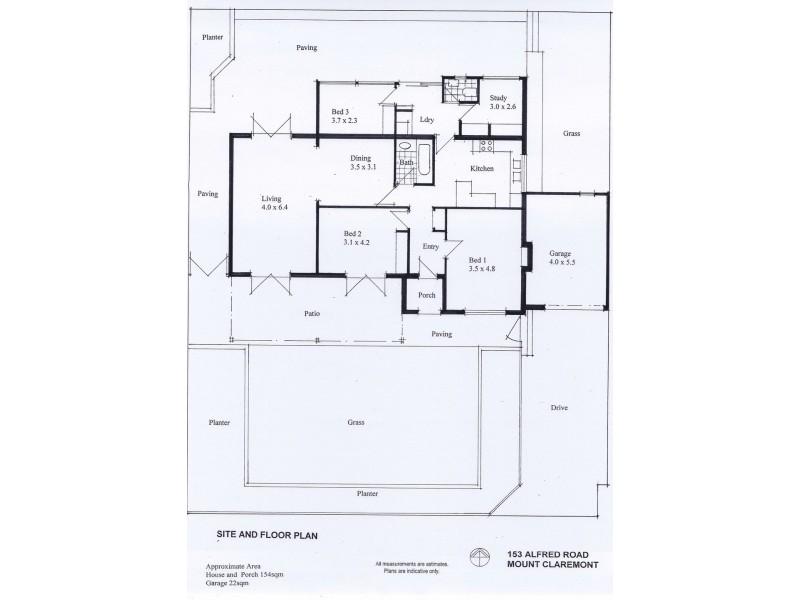 153 Alfred Road, Mount Claremont WA 6010 Floorplan
