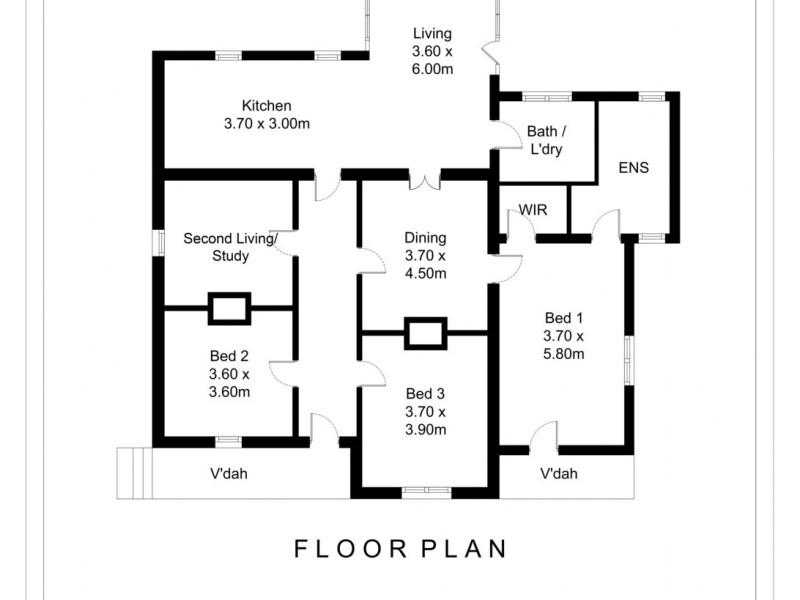 1 Pine Street, Quarry Hill VIC 3550 Floorplan