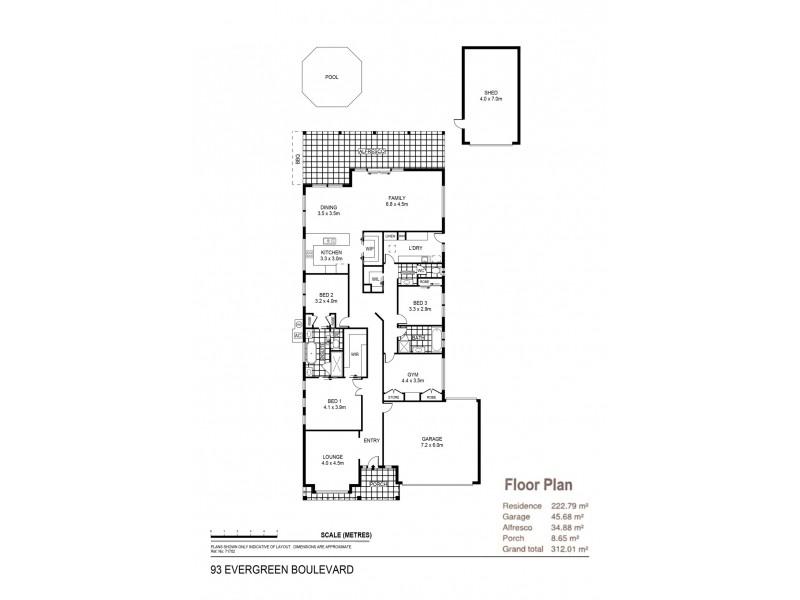 93 Evergreen Boulevard, Jackass Flat VIC 3556 Floorplan