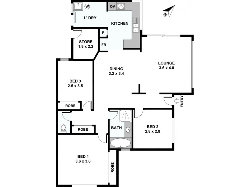 1/23 Beatty Avenue, East Victoria Park WA 6101 Floorplan