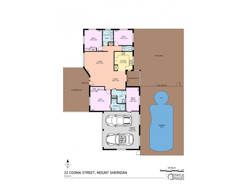 22 Cooma Street, Mount Sheridan QLD 4868 Floorplan