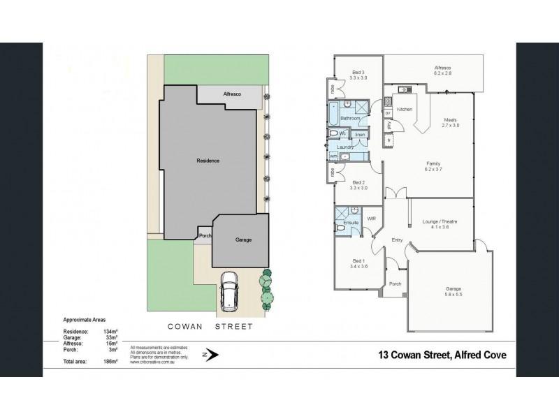 13 Cowan St, Alfred Cove WA 6154 Floorplan