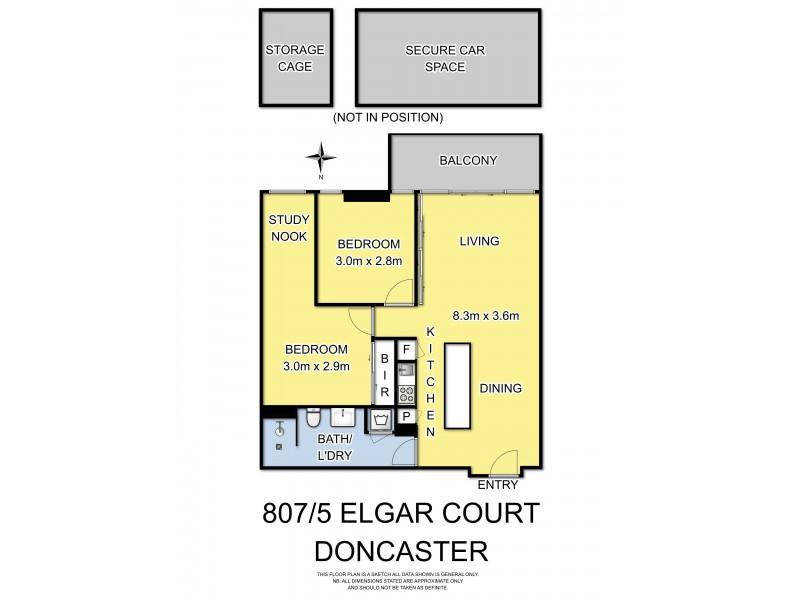 807-808/5 Elgar Court, Doncaster VIC 3108 Floorplan