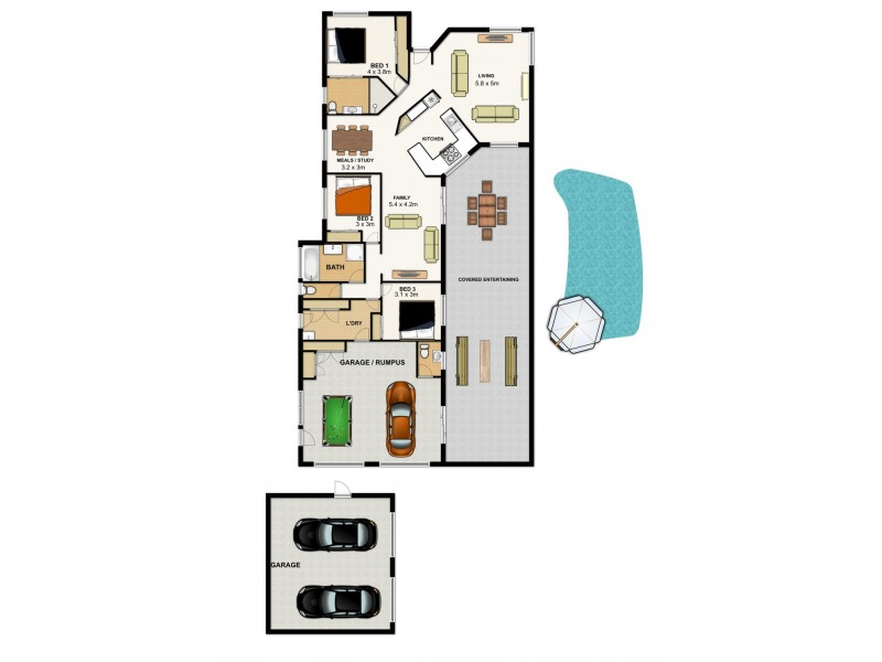 1 Meandarra Ct, Durack QLD 4077 Floorplan