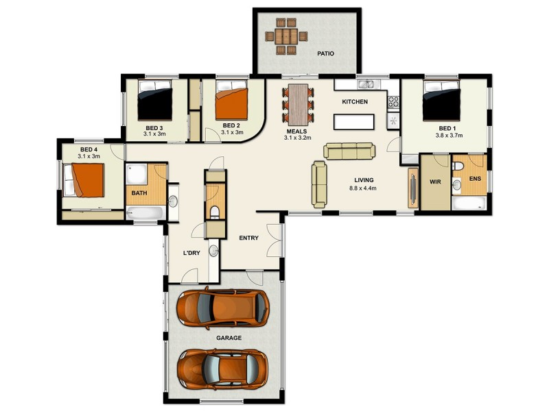 6 Allen Close, Forest Lake QLD 4078 Floorplan