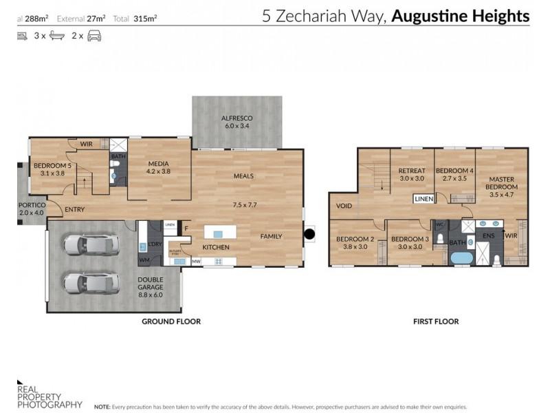 5 Zechariah Way, Augustine Heights QLD 4300 Floorplan