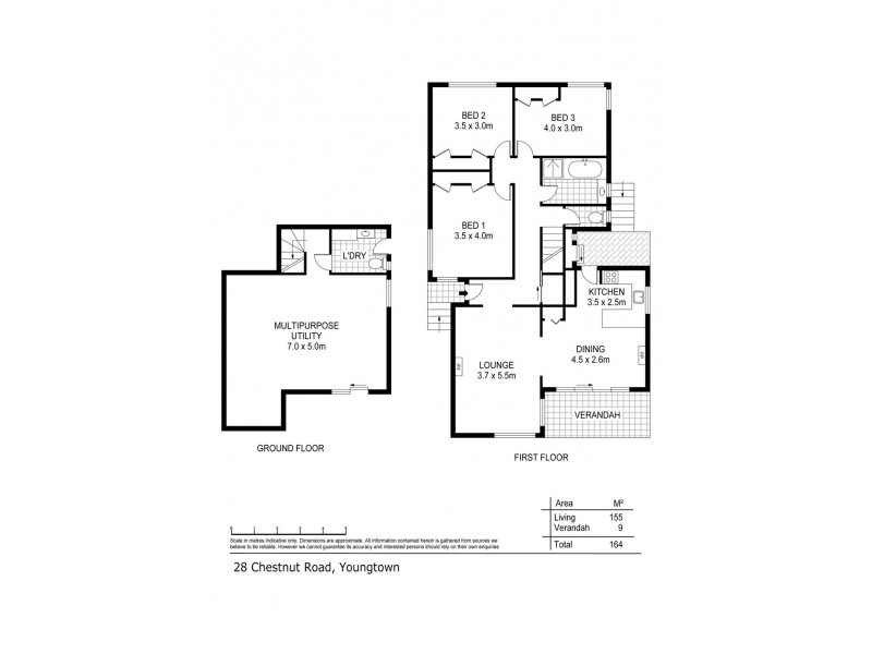 28 Chestnut Road, Youngtown TAS 7249 Floorplan
