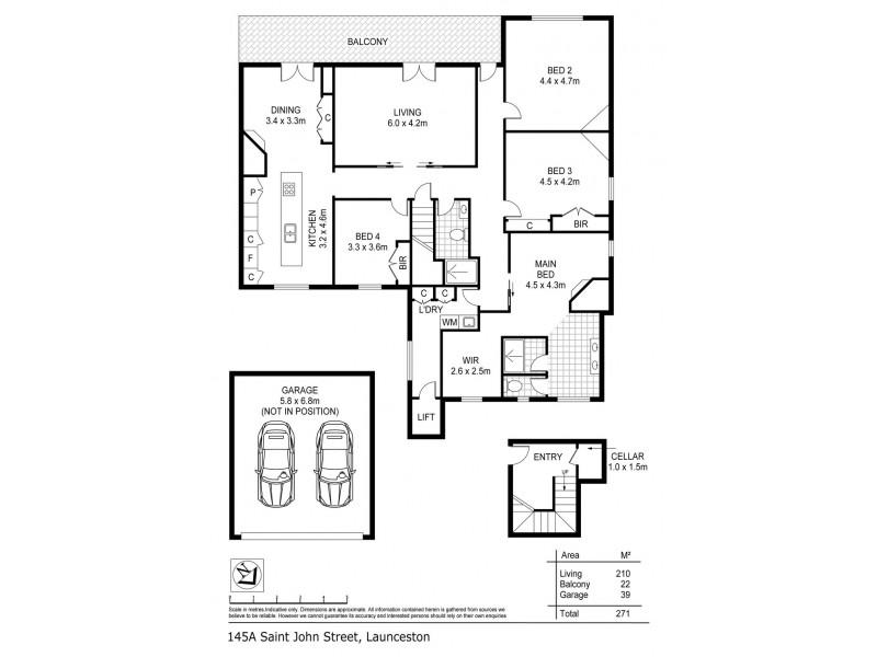 145A St John Street, Launceston TAS 7250 Floorplan