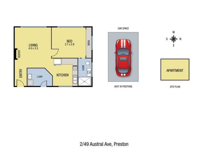 2/49 Austral Avenue, Preston VIC 3072 Floorplan