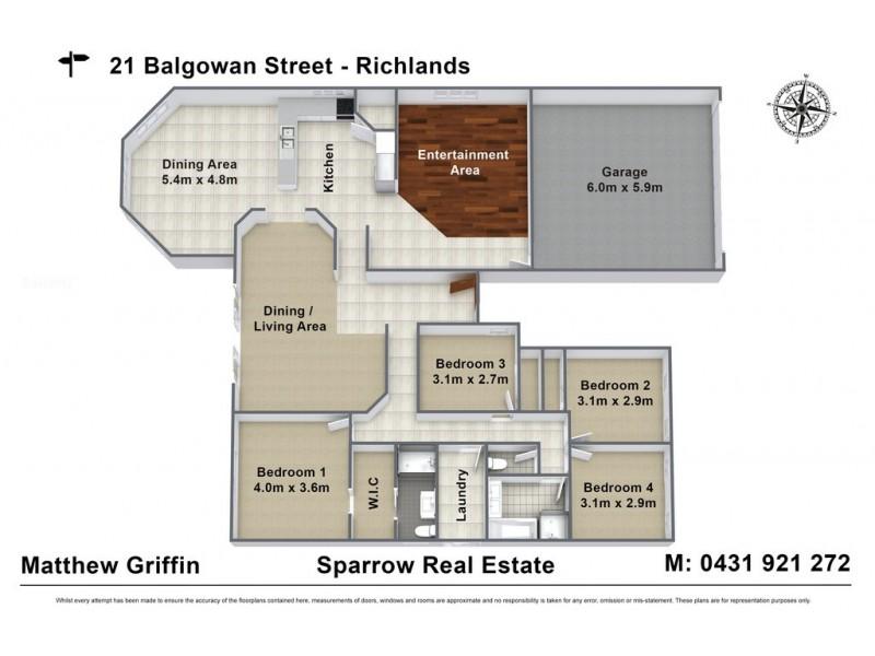 21 Balgowan Street, Richlands QLD 4077 Floorplan