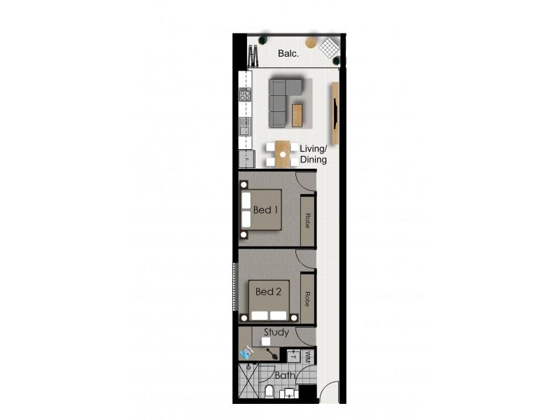 1/ 1 60 South Terrace, Adelaide SA 5000 Floorplan