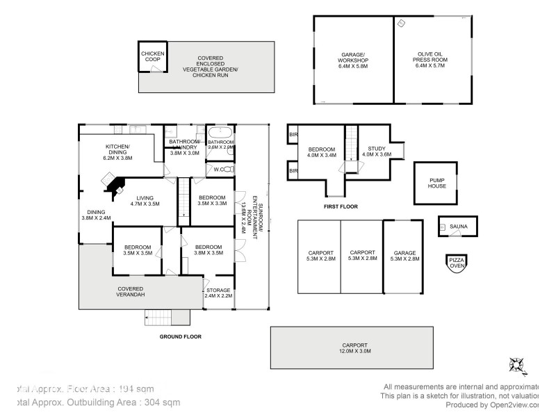120 McPhersons Road, Adventure Bay TAS 7150 Floorplan