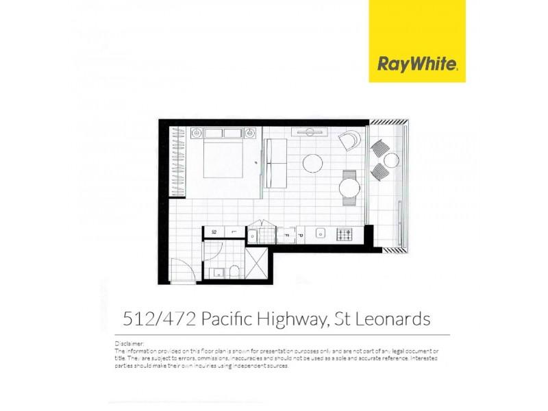 512/472 Pacific Highway, St Leonards NSW 2065 Floorplan