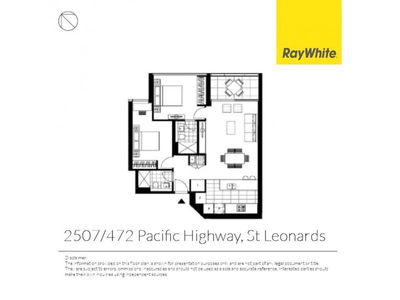 2507/472 Pacific Highway, St Leonards NSW 2065 Floorplan