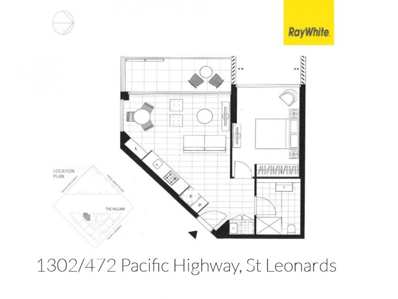 "1302/472 Pacific Highway ""The William"", St Leonards NSW 2065 Floorplan"