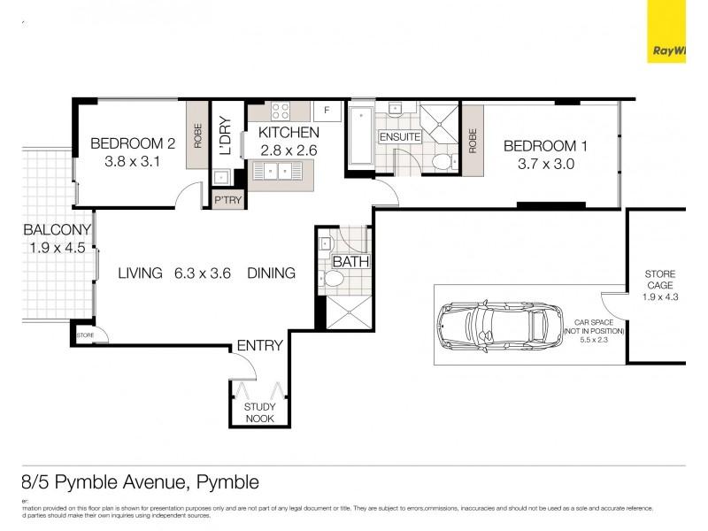 408/5 Pymble Avenue, Pymble NSW 2073 Floorplan