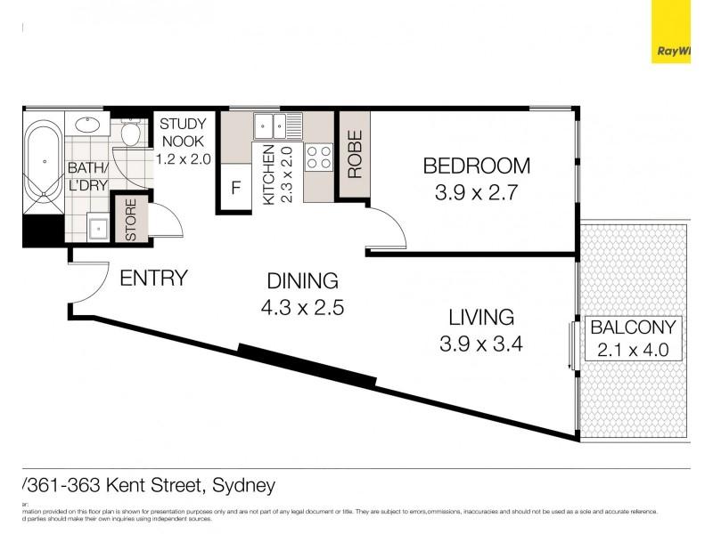 96/361-363 Kent Street, Sydney NSW 2000 Floorplan