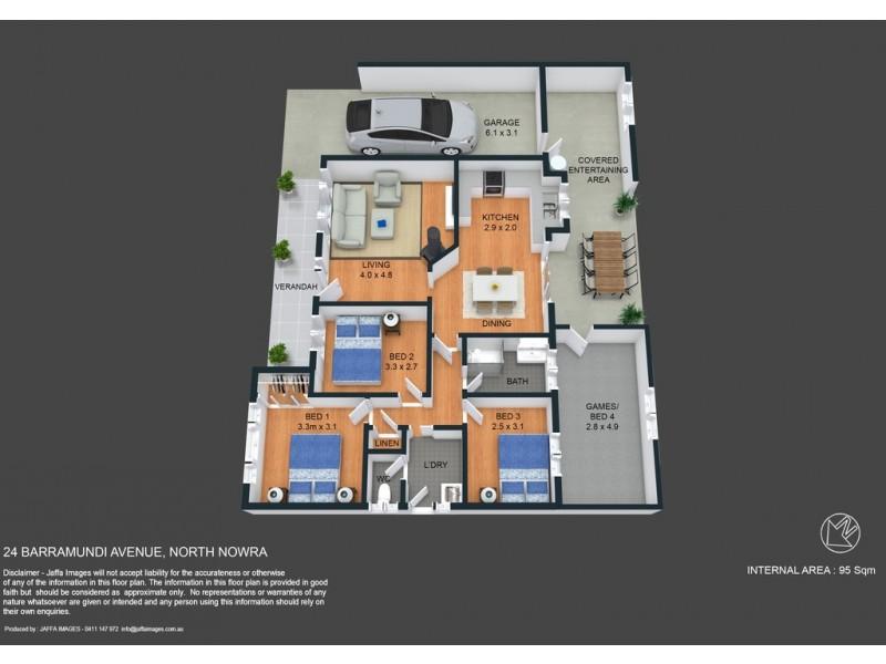 24 Barramundi Avenue, North Nowra NSW 2541 Floorplan