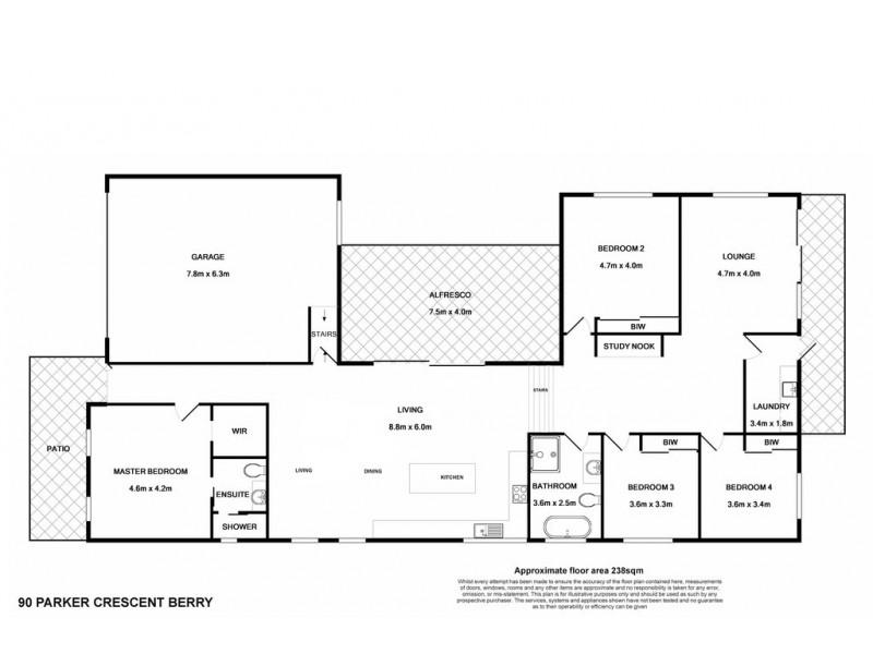 90 Parker Crescent, Berry NSW 2535 Floorplan