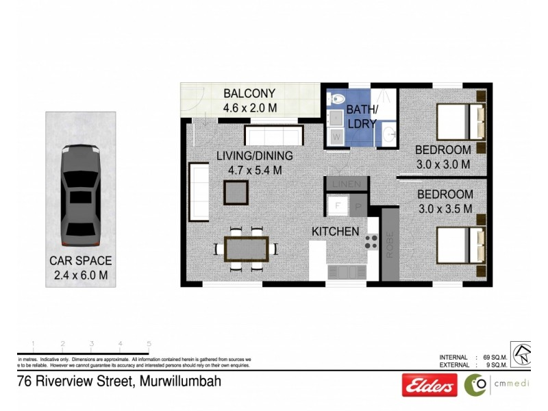 3/76 RIVERVIEW STREET, Murwillumbah NSW 2484 Floorplan