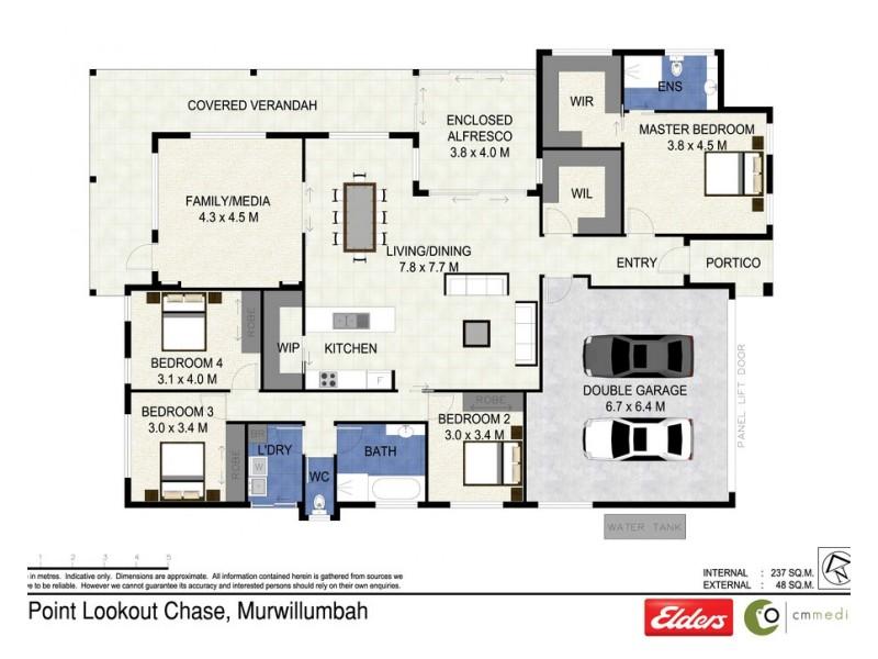2 POINT LOOKOUT CHASE, Murwillumbah NSW 2484 Floorplan