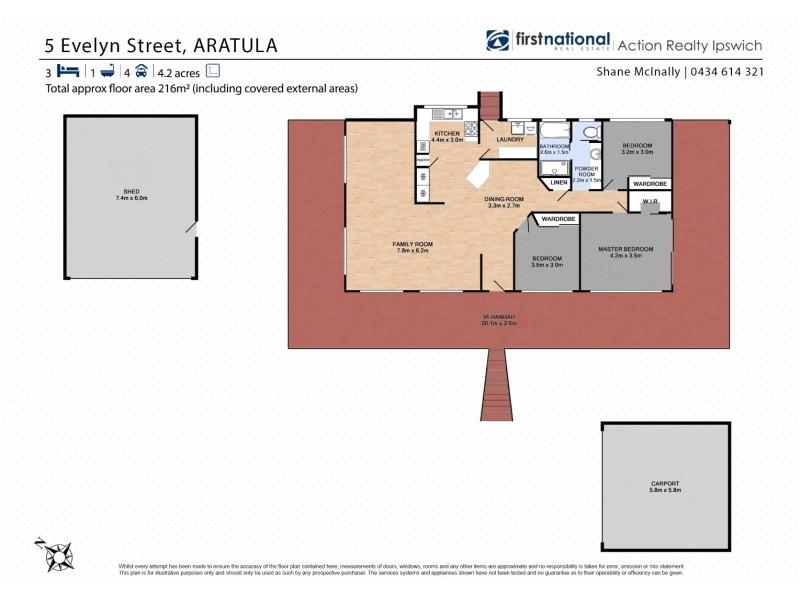5 Evelyn Street, Aratula QLD 4309 Floorplan