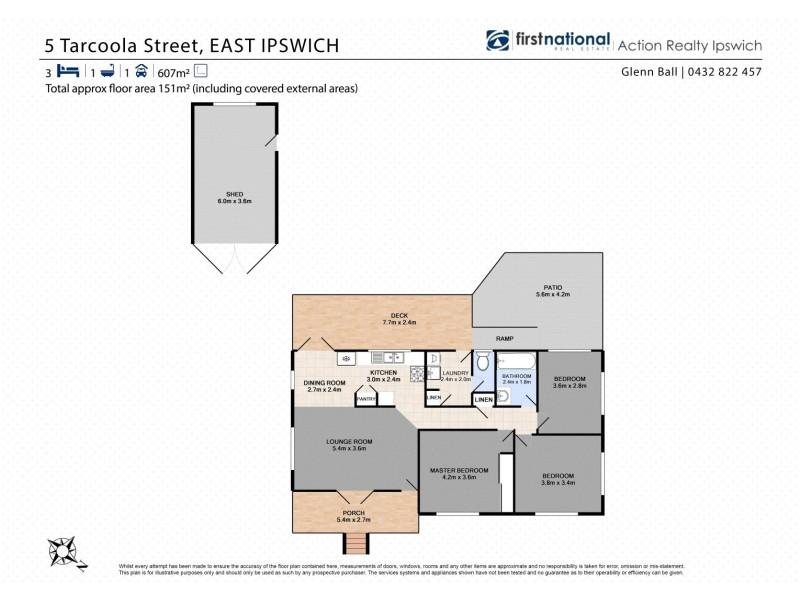 5 Tarcoola Street, East Ipswich QLD 4305 Floorplan