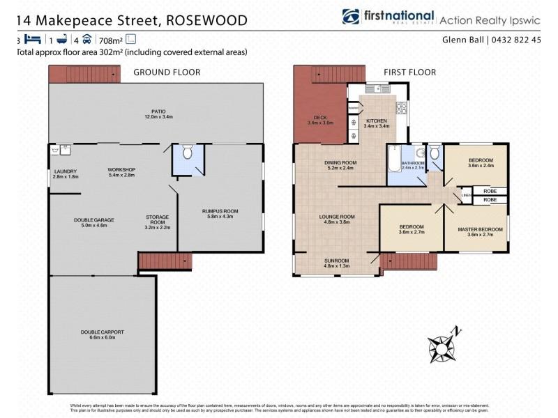 14 Makepeace Street, Rosewood QLD 4340 Floorplan