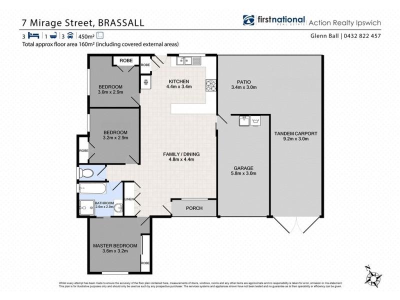 7 Mirage Street, Brassall QLD 4305 Floorplan