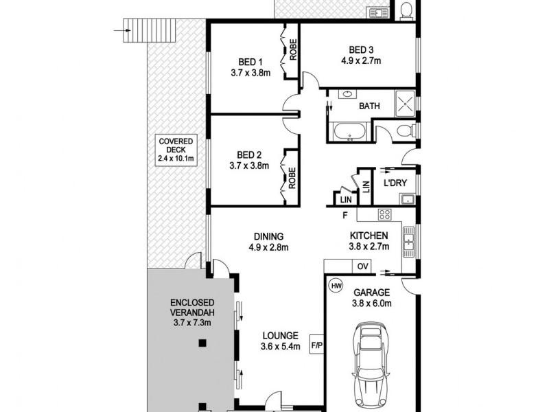 9 Azalea Avenue, Wauchope NSW 2446 Floorplan