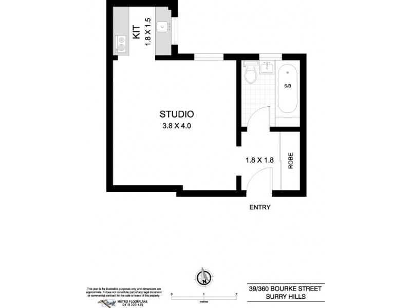 39/360 Bourke Street, Surry Hills NSW 2010 Floorplan