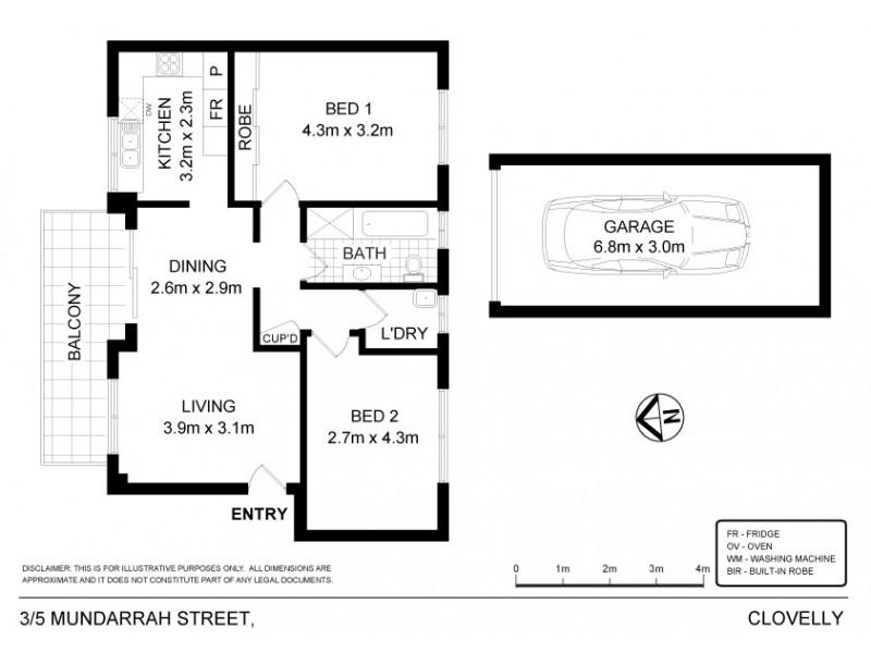 3/5 Mundarrah Street, Clovelly NSW 2031 Floorplan