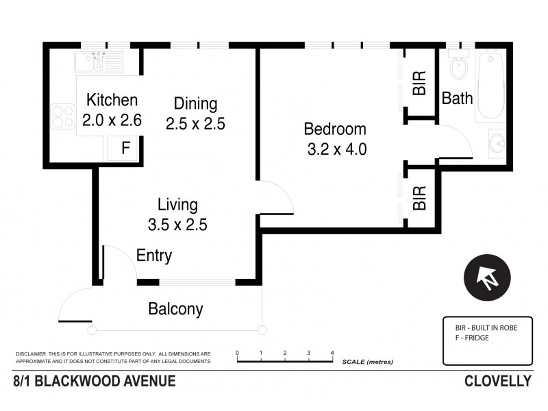8/1 Blackwood Avenue, Clovelly NSW 2031 Floorplan
