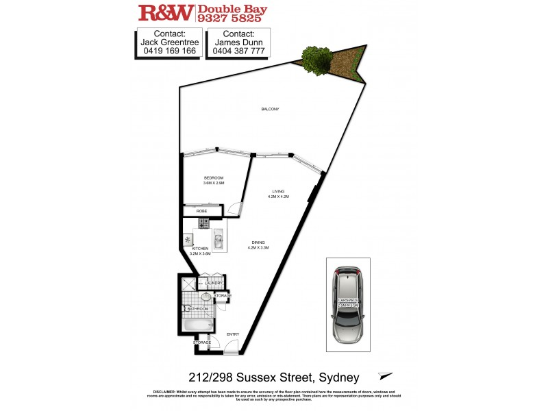 212/298-304 Sussex Street, Sydney NSW 2000 Floorplan
