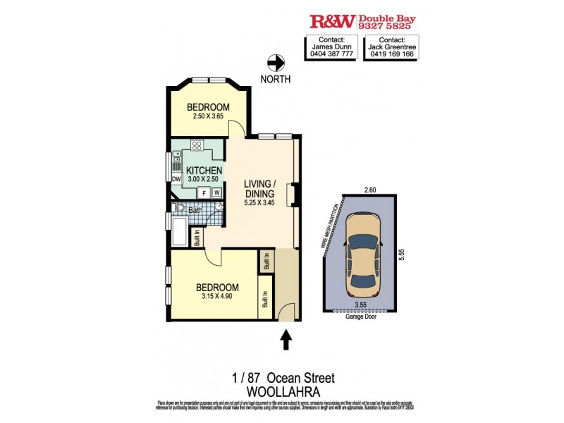 1/87 Ocean Street, Woollahra NSW 2025 Floorplan