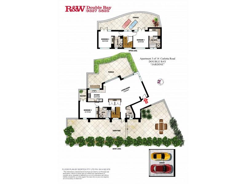 3/14  Carlotta Road, Double Bay NSW 2028 Floorplan
