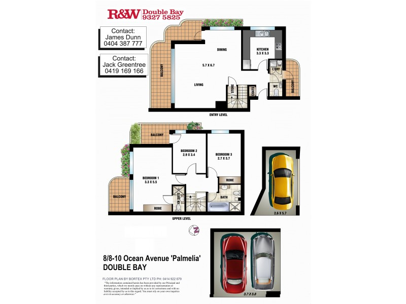 8/8-10 Ocean Avenue, Double Bay NSW 2028 Floorplan