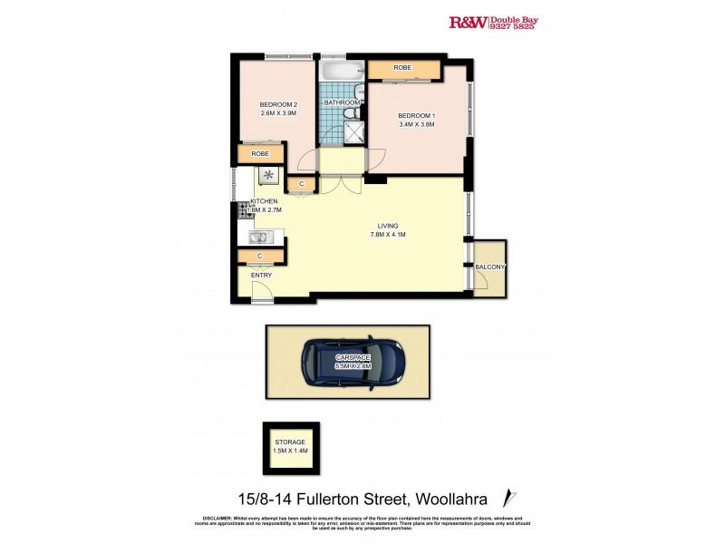 15/8-14 Fullerton Street, Woollahra NSW 2025 Floorplan