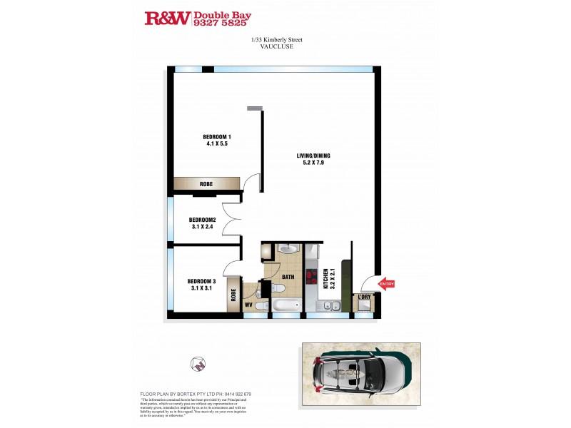 1/33 Kimberley Street, Vaucluse NSW 2030 Floorplan